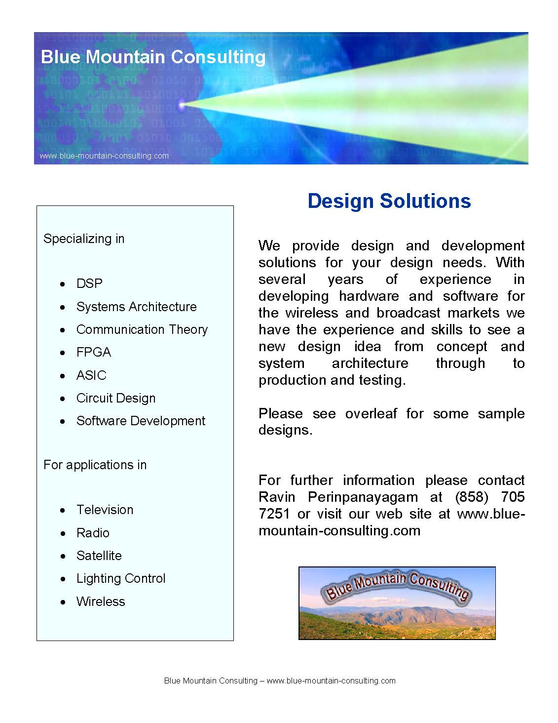 blue mount consultancy  Blue Mountain Consulting